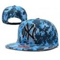 Gorra NY Color Azul Camuflaje con Logo Frontal y Correa de Plastico