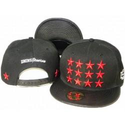 Gorra D9 Reserve Color Negro con Logo Frontal Bordado de Estrellas Blancas D9